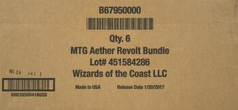 Magic the Gathering Aether Revolt Bundle 6-Box Case