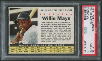 1961 Post Baseball #145 Willie Mays Hand Cut PSA 4 (VG-EX)