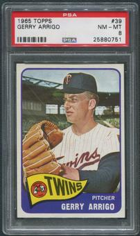 1965 Topps Baseball #39 Gerry Arrigo PSA 8 (NM-MT)