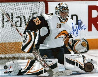 Ryan Miller Autographed Buffalo Sabres Old Logo 8x10 Hockey Photo