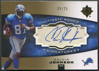 2007 Ultimate Collection #103 Calvin Johnson Rookie Gold Auto #09/25