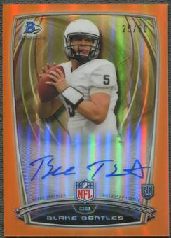 2014 Bowman Chrome #109 Blake Bortles College Orange Refractor Rookie Auto #29/50