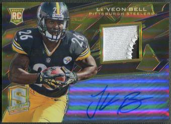 2013 Panini Spectra #221 Le'Veon Bell Rookie Spectra Gold Patch Auto #05/10
