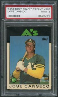 1986 Topps Traded Tiffany Baseball #20T Jose Canseco Rookie PSA 9 (MINT)
