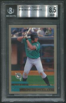 2000 Topps Traded Baseball #T40 Miguel Cabrera Rookie BGS 8.5 (NM-MT+)