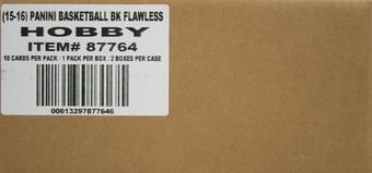 2015/16 Panini Flawless Basketball Hobby 2-Box Case