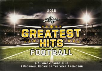 2016 Leaf Greatest Hits Football Hobby Box