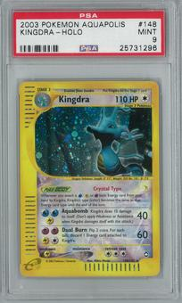 Pokemon Aquapolis Kingra 148/147 Holo Rare PSA 9