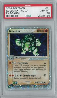 Pokemon EX Dragon Golem EX 91/97 Holo Rare PSA 10 GEM MINT