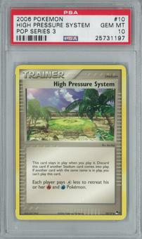 Pokemon POP Series 3 High Pressure System 10/17 Rare PSA 10 GEM MINT