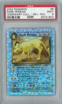 Pokemon Legendary Collection Dark Persian 6/110 Reverse Foil Rare PSA 9