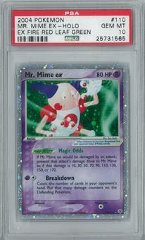 Pokemon EX FireRed LeafGreen Mr. Mime EX 110/112 Holo Rare PSA 10 GEM MINT
