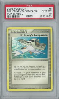 Pokemon POP Series 2 Mr. Briney's Compassion 8/17 PSA 10 GEM MINT