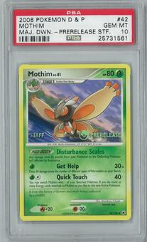 Pokemon Majestic Dawn Mothim 42/100 Prerelease Staff PSA 10 GEM MINT