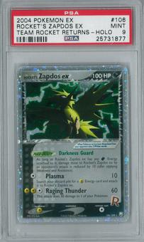 Pokemon Team Rocket Returns Rocket's Zapdos EX 106/109 Holo Rare PSA 9