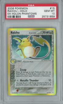 Pokemon EX Holon Phantom Raichu delta 15/110 Holo Rare PSA 10 GEM MINT