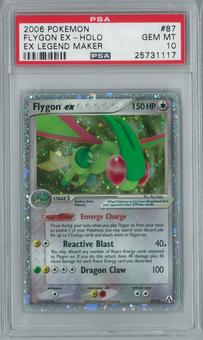 Pokemon EX Legend Maker Flygon ex 87/92 Holo Rare PSA 10 GEM MINT