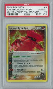 Pokemon EX Magma Vs Aqua Team Magma's Groudon 9/95 Holo Rare PSA 10 GEM MINT