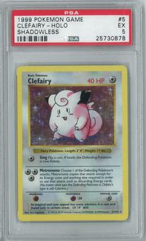Pokemon Base Set Shadowless Clefairy 5/102 Holo Rare PSA 5