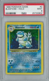 Pokemon Base Set Unlimited Blastoise 2/102 Holo Rare PSA 9