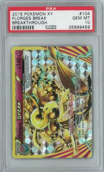 Pokemon Breakthrough Florges BREAK 104/162 Holo Rare PSA 10 GEM MINT