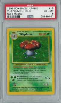 Pokemon Jungle No Set Symbol Error Vileplume 15/64 Holo Rare PSA 6