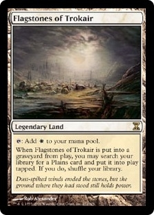 Magic the Gathering Time Spiral Single Flagstones of Trokair - NEAR MINT (NM)