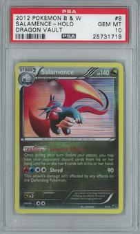 Pokemon Dragon Vault Salamence 8/20 Holo Rare PSA 10 GEM MINT