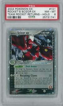 Pokemon Team Rocket Returns Rocket's Scizor ex 101/109 Holo Rare PSA 8