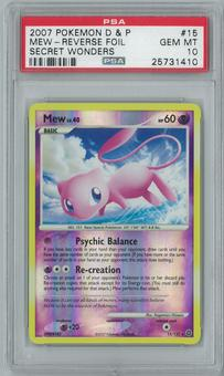 Pokemon Secret Wonders Mew 15/132 Reverse Holo PSA 10 GEM MINT