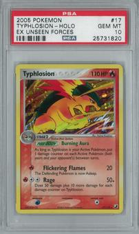 Pokemon EX Unseen Forces Typhlosion 17/115 Holo Rare PSA 10 GEM MINT