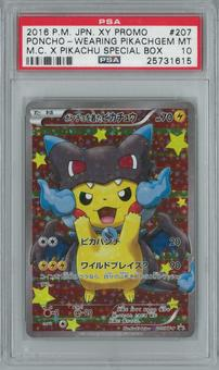 Pokemon Japanese Poncho Wearing Pikachu Cosplay X 207 Holo Rare PSA 10 GEM MINT