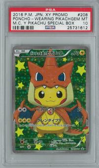 Pokemon Japanese Poncho Wearing Pikachu Cosplay Y 208 Holo Rare PSA 10 GEM MINT