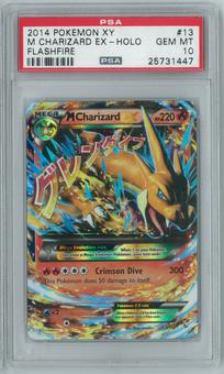 Pokemon Flashfire M Charizard EX 13/106 Holo Rare PSA 10 GEM MINT