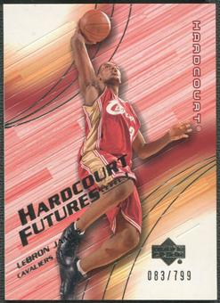 2003/04 Upper Deck Hardcourt #132 LeBron James Rookie #083/799
