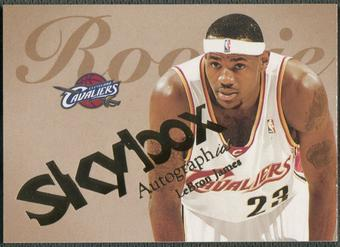 2003/04 SkyBox Autographics #77 LeBron James Rookie #0478/1500