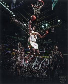 Shawn Kemp Autographed 8x10 Photo 2016 The National Panini VIP Signings