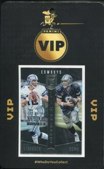 2016 Panini National VIP Party Event Badge Roger Staubach Tony Romo 1/1 Elite