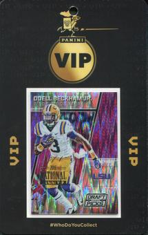 2016 Panini National VIP Party Event Badge Odell Beckham 1/1 Prizm Draft