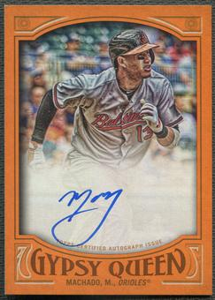 2016 Topps Gypsy Queen #GQAMM Manny Machado Orange Auto #09/25