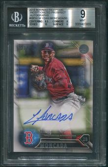 2016 Bowman Inception #IBPAYM Yoan Moncada Inceptionized Prospect Rookie Auto #22/50 BGS 9 (MINT)