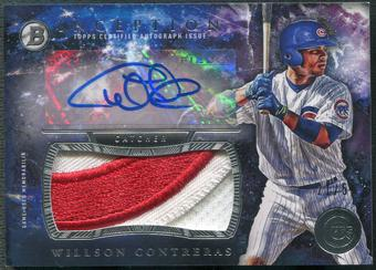 2016 Bowman Inception #IAJPWC Willson Contreras Rookie Jumbo Patch Auto #21/50