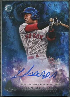 2016 Bowman Inception Prospect #PAYM Yoan Moncada Rookie Blue Auto #65/99
