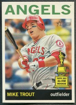 2013 Topps Heritage #430B Mike Trout Action SP