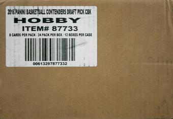 2016/17 Panini Contenders Draft Picks Basketball Hobby 12-Box Case