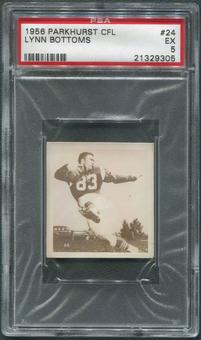 1956 Parkhurst CFL #24 Lynn Bottoms PSA 5 (EX)