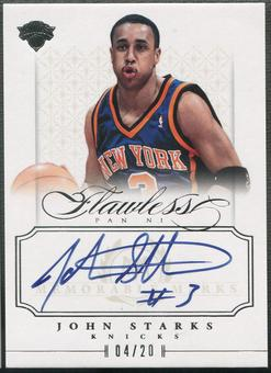 2012/13 Panini Flawless #40 John Starks Memorable Marks Auto #04/20
