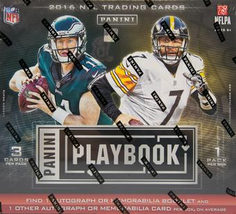 2016 Panini Playbook Football Hobby 15-Box Case- DACW Live 28 Spot Random Team Break #5