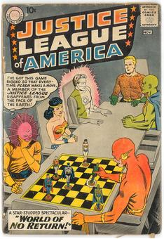 Justice League of America #1  FR (Cover and all pages detached tape on inside back cover)