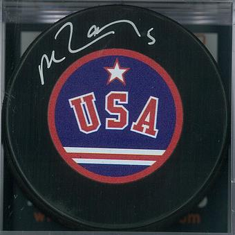 Mike Ramsey Autographed USA Miracle on Ice Hockey Puck